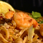 Dean Edwards pad Thai with prawn recipe on Lorraine