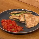 Gino toasted Parma ham and cheese quesadilla with sweet tomato salsa on Let's Do Lunch