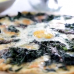 Angela Hartnett pizza bianco with spinach and taleggio cheese recipe on Food and Drink with  Michel Roux Jr