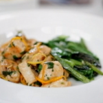 Michel Roux Jr  and Ken Hom Quick orange and lemon chicken with stir-fried Chinese greens recipe on Food and Drink