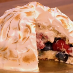Gino Summer Fruit Baked Alaska dessert recipe on Let's Do Lunch with Mel