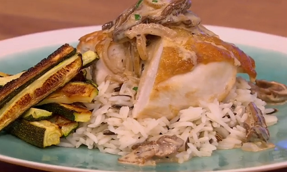 Gino chicken with a porcini mushroom sauce and wild rice recipe on Let ...
