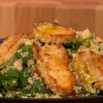 Gino chicken, cous cous and orange salad recipe on Let's Do Lunch