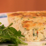 Gino crab and apple tart with apple salad recipe on Let's Do Lunch