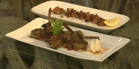 Scott Hallsworth Tea-smoked lamb chops, with miso grilled ...