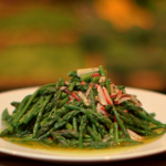 Brian Turner  asparagus salad with radish dressing recipe in Oxfordshire on A Taste Of Britain