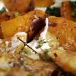 Stevie Parle Nutmeg Roast Chicken with Squash and Spinach Recipe on The  Spice Trip