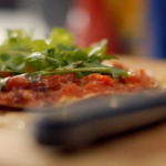 Simple homemade tortilla pizza  recipe by Lorraine Pascale on How To Be A Better Cook