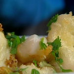Rick Stein plaice goujons with chilli and spring onions recipe on Saturday Kitchen