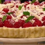 James Tanner Lemon tart with raspberries and white chocolate recipe on Lorraine