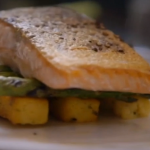 Lorraine Pascale Crispy salmon with polenta chips recipe on How To Be A Better Cook