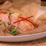 Dean Edwards Fragrant salmon with Thai ribbon salad recipe on Lorraine