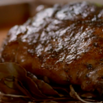 Tom Kerridge roasted bay leaf leg of lamb recipe on Tom Kerridge's Best Ever Dishes