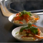 Lorraine Pascale  Chicken, cashew nut and basil stir fry recipe on How To Be A Better Cook