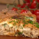 Dean Edwards Mushroom and goat's cheese tortilla recipe on Lorraine