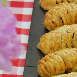 Paul Hollywood mini sausage plaits recipe on The Great British Bake Off 2014 Masterclass