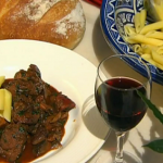 Rick Stein  Corsican Wild Boar stew with chestnuts and wild mushrooms recipe on Saturday Kitchen