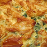 Jamie Oliver spinach and feta pie recipe on Thirty Minutes Meals