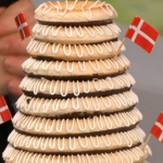 Karen Nash Kransekage Danish Cake Challange on Let's Do Christmas with Gino and Mel