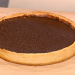 Lorraine Pascale chocolate and orange tart  Christmas recipe on This Morning