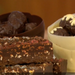Paul A Young Christmas pudding truffles on Let's Do Christmas with Gino and Mel