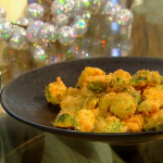 Brian Turner Deep-fried Brussels sprouts with tomato tartare  recipe on  Christmas Kitchen