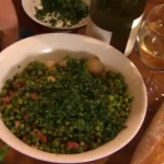 Rick Stein peas braised with onions and Parma ham  recipe on Saturday Kitchen