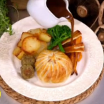 Dean Edwards festive mushroom baked Wellington recipe on Lorraine