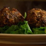 Nigel Slater nut roast patties with porcini mushrooms recipe on Christmas Kitchen with James Martin