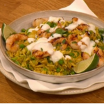 Gino prawns with spicy sprout rice recipe on Let's Do Christmas Lunch