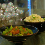 Brian Turner sweet-and-sour turkey with egg-fried rice recipe on Christmas Kitchen