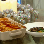 Brian Turner vegetable casserole with potatoes and red peppers recipe on Christmas Kitchen with James Martin