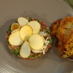 Adam Byatt venison tartare with celeriac remoulade Christmas Kitchen with James Martin