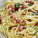 Gino D'Acampo spaghetti carbonara recipe on This Morning