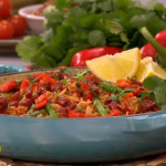 Bill Granger tomato rice with chorizo and cumin recipe on Lorraine