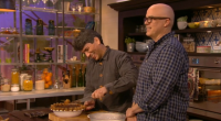 "David and David makes chocolate cream pie that can be shared with your dog on ITV's Mel and Sue. The baking duo says: ""The chocolate should not be served to..."