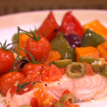 Dean Edwards Mediterranean salmon parcels recipe on Lorraine