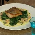 Brian Turner lightly cured hake on black kale recipe on  Saturday Kitchen