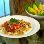 Brian Turner lobster on Morecambe Bay shrimp hash recipe on  Saturday Kitchen