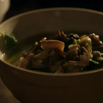 Monica Galetti  mushrooms with nettles soup recipe on A Cook Abroad