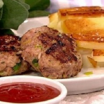Nadia Sawalha posh sausage and chips recipe on This  Morning