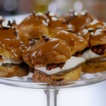 Tom Kerridge toffee with coffee choux buns recipe on Food and Drink