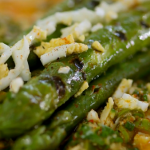 Raymond Blanc asparagus with vegetable crumble recipe on Kew on a Plate