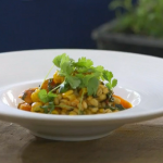 Raymond Blanc carrot and barley summer stew recipe on Kew on a Plate