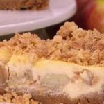 Dean Edwards apple crumble cheesecake recipe on Lorraine