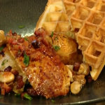 Thomas Keller Roast chicken with waffles recipe on Saturday Kitchen