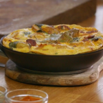 Raymond Blanc's potato and chorizo tortilla recipe on Kew on a Plate