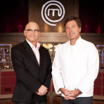 Sarah, Howard, Chibesa,  Alex and Pete cook for survival  on   MasterChef 2015 UK