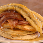 Phil Vickery  pancakes with crispy bacon and banana recipe on This Morning