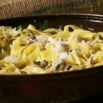The Two Greedy Italians mushroom with chilli pasta recipe on Saturday Kitchen